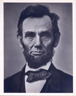 PRESIDENT ABRAHAM LINCOLN - PHOTOGRAPH UNSIGNED