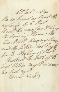 DUKE (ARTHUR WELLESLEY) OF WELLINGTON (GREAT BRITIAN) - AUTOGRAPH LETTER SIGNED 01/01/1840