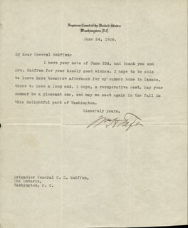 PRESIDENT WILLIAM H. TAFT - TYPED LETTER SIGNED 06/24/1926