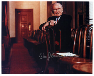 Autographs: ASSOCIATE JUSTICE WILLIAM J. BRENNAN JR. - PHOTOGRAPH SIGNED