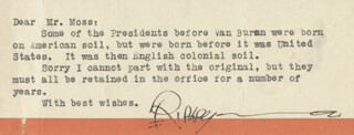 ROBERT BELIEVE IT OR NOT! RIPLEY - TYPED NOTE SIGNED
