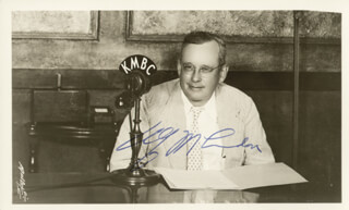 GOVERNOR ALF M. (ALFRED) LANDON - AUTOGRAPHED SIGNED PHOTOGRAPH