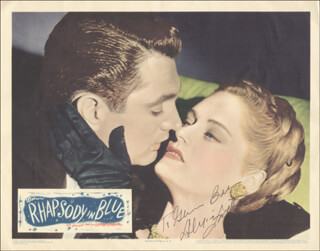 ALEXIS SMITH - INSCRIBED LOBBY CARD SIGNED