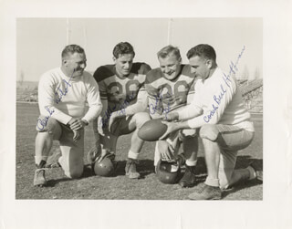 THE UNIVERSITY OF NEW MEXICO FOOTBALL - AUTOGRAPHED SIGNED PHOTOGRAPH CO-SIGNED BY: BERL HUFFMAN, VIRGIL BOTTLES BOTELER, RUDY KRALL