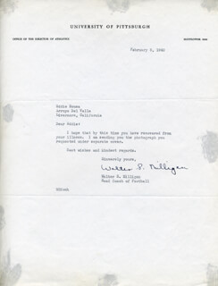 WALTER S. MIKE MILLIGAN - TYPED LETTER SIGNED 02/08/1949