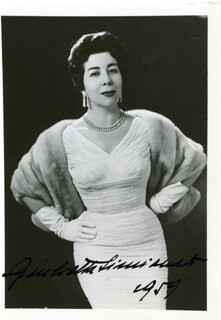 GIULIETTA FRUGONI SIMIONATO - AUTOGRAPHED SIGNED PHOTOGRAPH 1959