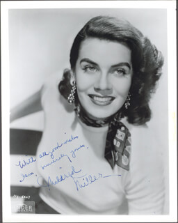 MILDRED MILLER - AUTOGRAPHED SIGNED PHOTOGRAPH