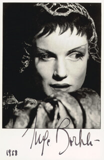 INGE BORKH - AUTOGRAPHED SIGNED PHOTOGRAPH CIRCA 1958
