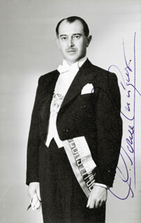 Autographs: DON CAMILO PONCE ENRIQUEZ - PICTURE POST CARD SIGNED