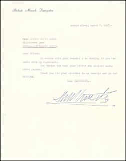 PRESIDENT ROBERTO M. LEVINGSTON (ARGENTINA) - TYPED LETTER SIGNED 03/07/1987