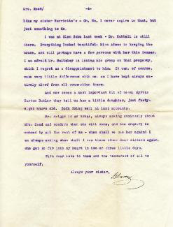 CLARA BARTON - TYPED LETTER SIGNED 06/28/1903
