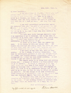 CLARA BARTON - TYPED LETTER SIGNED 09/01