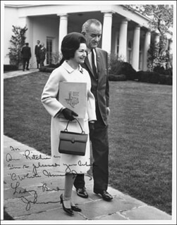 FIRST LADY LADY BIRD JOHNSON - AUTOGRAPHED INSCRIBED PHOTOGRAPH  - HFSID 17578