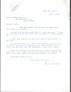 Autographs: CLARA BARTON - TYPED LETTER SIGNED 04/08/1910