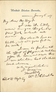 WILLIAM E. CHANDLER - AUTOGRAPH LETTER SIGNED 01/06/1897