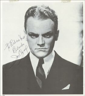 JAMES CAGNEY - INSCRIBED BOOK PHOTOGRAPH SIGNED