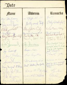 Autographs: CHARLES ANDY CORRELL - SIGNATURE(S) CO-SIGNED BY: BOBBY SHORT, GEOFFREY HOLDER, RAYMOND BURR, IDA LUPINO, MARY MARGARET McBRIDE, DON SHERWOOD, FRANKIE LAINE, GAYLORD A. NELSON, ABRAHAM A. RIBICOFF, CARY MIDDLECOFF, DARRYL HICKMAN, HOWARD DUFF