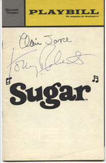SUGAR BROADWAY CAST - SHOW BILL SIGNED CO-SIGNED BY: TONY (ANTHONY) ROBERTS, ELAINE JOYCE