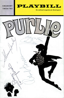 Autographs: PURLIE BROADWAY CAST - SHOW BILL SIGNED CO-SIGNED BY: SHERMAN HEMSLEY, CAROL J. LEWIS, TOMMY BRESLIN, ROBERT GUILLAUME