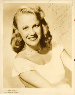 GEORGIA GIBBS - AUTOGRAPHED INSCRIBED PHOTOGRAPH