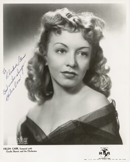 HELEN CARR - AUTOGRAPHED INSCRIBED PHOTOGRAPH