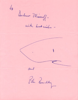 PETER BENCHLEY - INSCRIBED ORIGINAL ART SIGNED