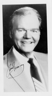 PAUL HARVEY - AUTOGRAPHED SIGNED PHOTOGRAPH