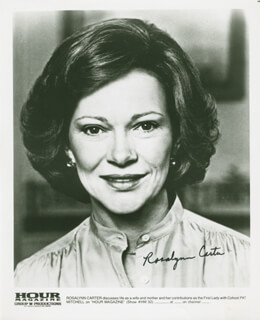 FIRST LADY ROSALYNN CARTER - PRINTED PHOTOGRAPH SIGNED IN INK