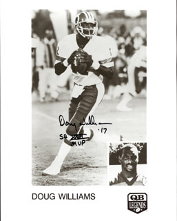 DOUG WILLIAMS - AUTOGRAPHED SIGNED PHOTOGRAPH