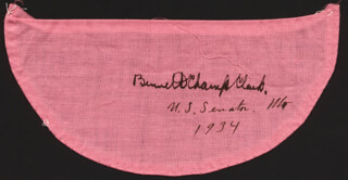 Autographs: BENNETT CHAMP CLARK - EPHEMERA SIGNED 1934