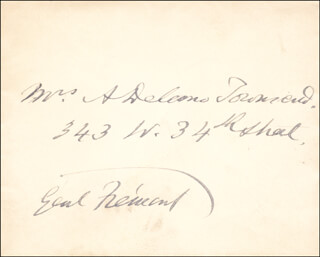 MAJOR GENERAL JOHN C. FREMONT - AUTOGRAPH ENVELOPE SIGNED