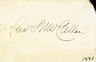 Autographs: MAJOR GENERAL GEORGE B. MCCLELLAN - SIGNATURE(S) CIRCA 1880