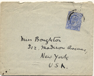 WILLIAM BUTLER YEATS - AUTOGRAPH ENVELOPE UNSIGNED CIRCA 1904