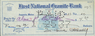 ERSKINE CALDWELL - AUTOGRAPHED SIGNED CHECK 01/18/1937 CO-SIGNED BY: ALMA P. BUTLER