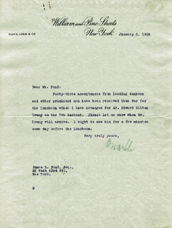 OTTO H. KAHN - TYPED LETTER SIGNED 01/02/1925