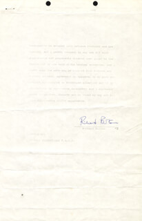 RICHARD BURTON - CONTRACT SIGNED