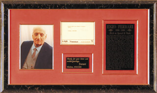 ENZO FERRARI - TYPED NOTE SIGNED 06/14/1981