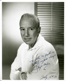 LLOYD NOLAN - AUTOGRAPHED INSCRIBED PHOTOGRAPH 07/26/1983