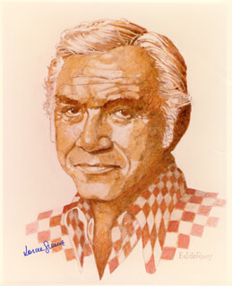 LORNE GREENE - AUTOGRAPHED SIGNED PHOTOGRAPH