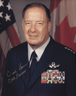 Autographs: GENERAL CHUCK HORNER - PHOTOGRAPH SIGNED