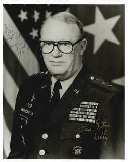 Autographs: LT. GENERAL THOMAS KELLY - INSCRIBED PHOTOGRAPH SIGNED