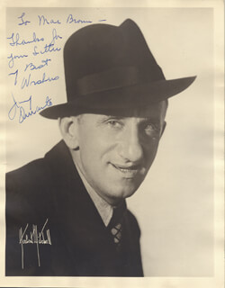 JIMMY SCHNOZZOLA DURANTE - AUTOGRAPHED INSCRIBED PHOTOGRAPH