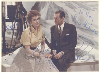 RELUCTANT DEBUTANTE MOVIE CAST - AUTOGRAPHED INSCRIBED PHOTOGRAPH CO-SIGNED BY: KAY KENDALL, REX HARRISON