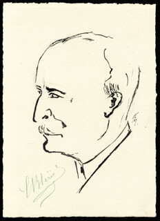 Autographs: LOUIS BLERIOT - ORIGINAL ART SIGNED