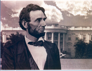 PRESIDENT ABRAHAM LINCOLN - COMPOSITE PHOTOGRAPH UNSIGNED