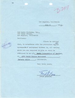 FRED ASTAIRE - DOCUMENT SIGNED 07/09/1948