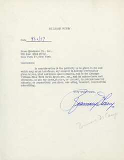 ROSEMARY DECAMP - DOCUMENT SIGNED 09/10/1957