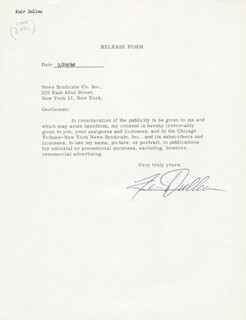 KEIR DULLEA - DOCUMENT SIGNED 03/28/1968
