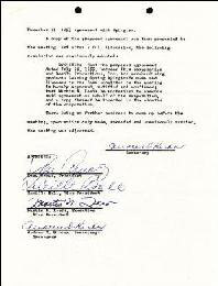 LUCILLE LUCY BALL - CORPORATE MINUTES SIGNED CIRCA 1955 CO-SIGNED BY: MARTIN N. LEEDS, ANDREW G. HICKOX, DESI ARNAZ SR.