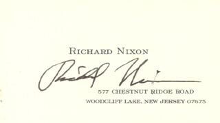 Autographs: PRESIDENT RICHARD M. NIXON - BUSINESS CARD SIGNED